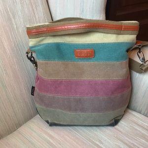 ORIS crossbody striped canvas satchel tote bag